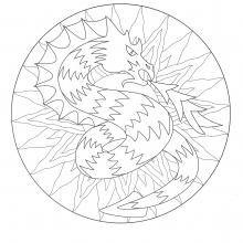 Mandalas sur le th me des animaux 100 mandalas zen anti stress - Mandala de dragon ...