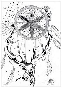 Coloriage Girafe Mandala.Mandala Girafe Mandalas Sur Le Theme Des Animaux 100