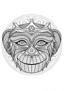 Mandala tête de singe   1