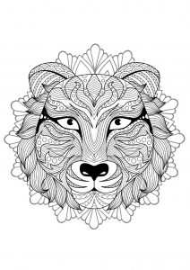 Mandala tête de tigre   4