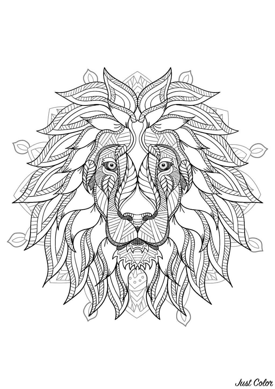 Mandala Tête De Lion 2 Mandalas Sur Le Thème Des Animaux