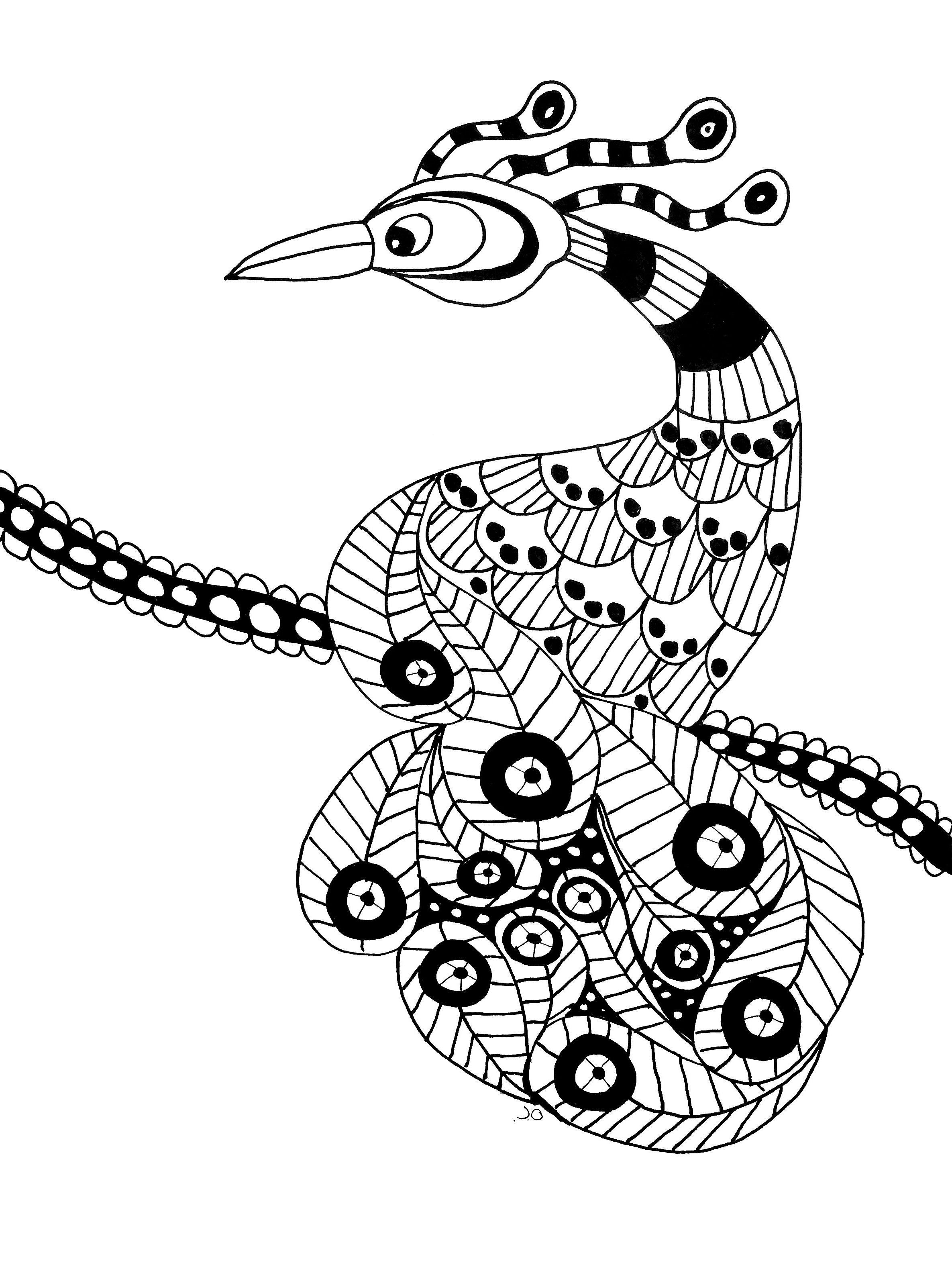 Oiseau coloriages d 39 animaux 100 mandalas zen anti - Animaux a imprimer gratuit ...