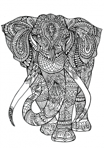Coloriage elephant