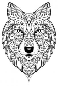 Coloriage grand loup