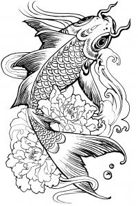 Coloriage poisson carpe