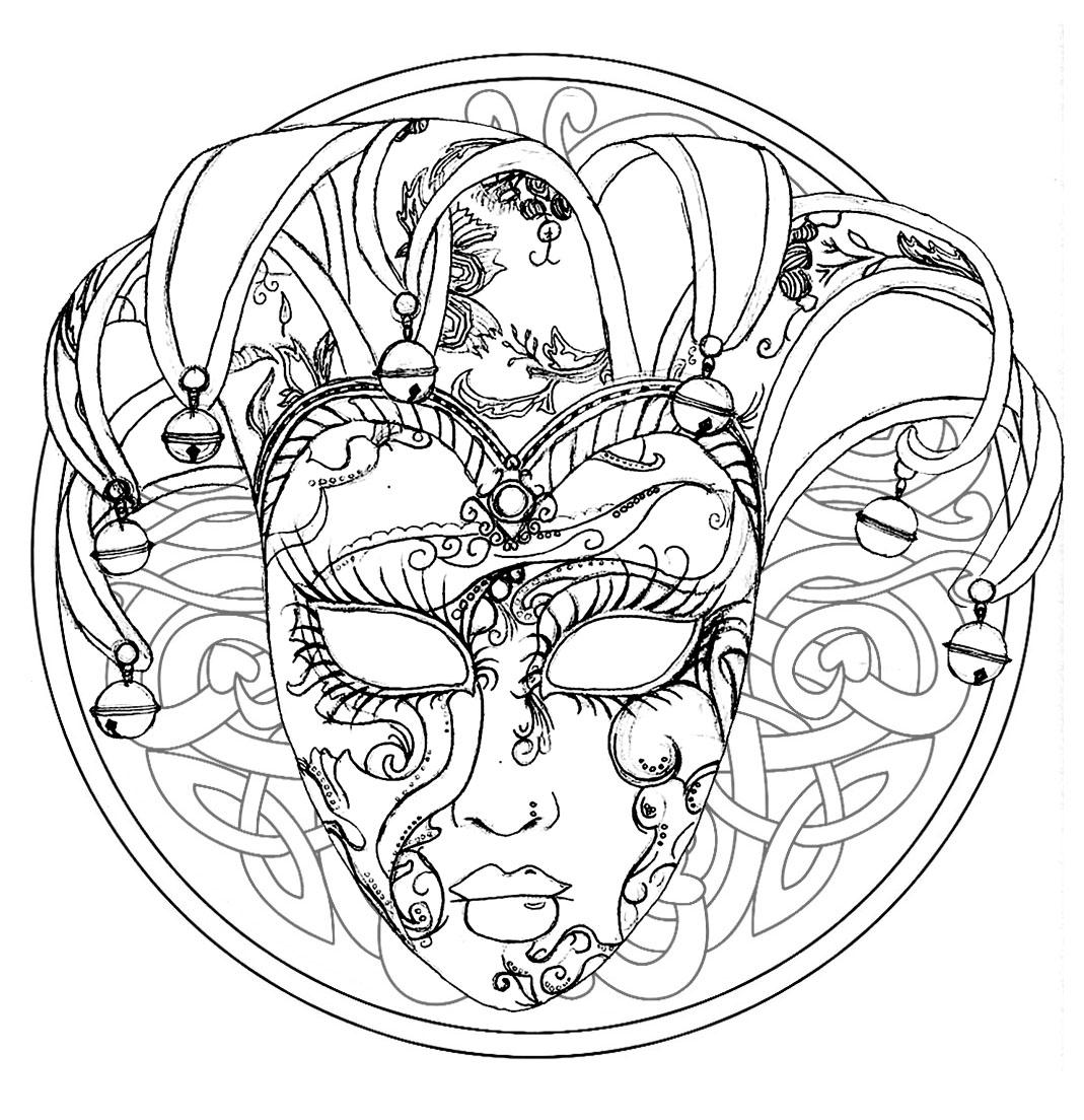 masque du carnaval de venise mandala mandalas avec personnages 100 mandalas zen anti stress. Black Bedroom Furniture Sets. Home Design Ideas