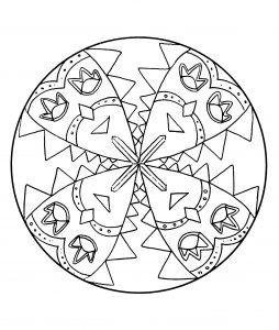 Mandala a colorier personnages carnaval