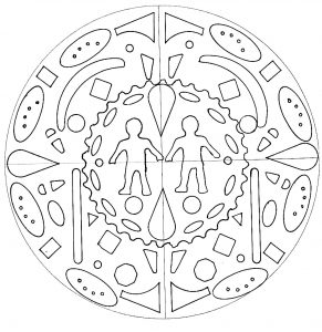 Mandala personnage par domandala 1