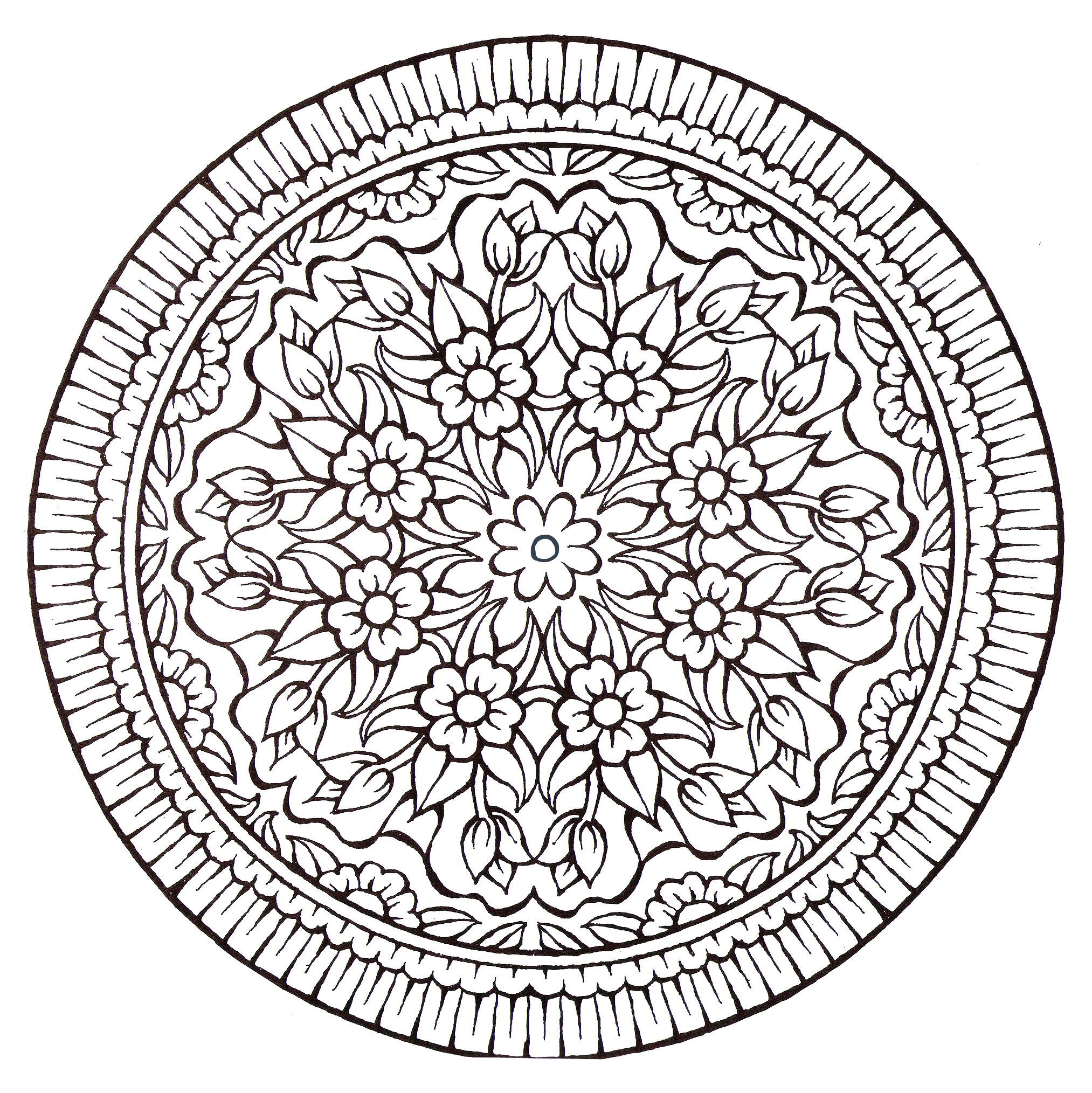Beau Dessin à Imprimer Mandala Gratuit