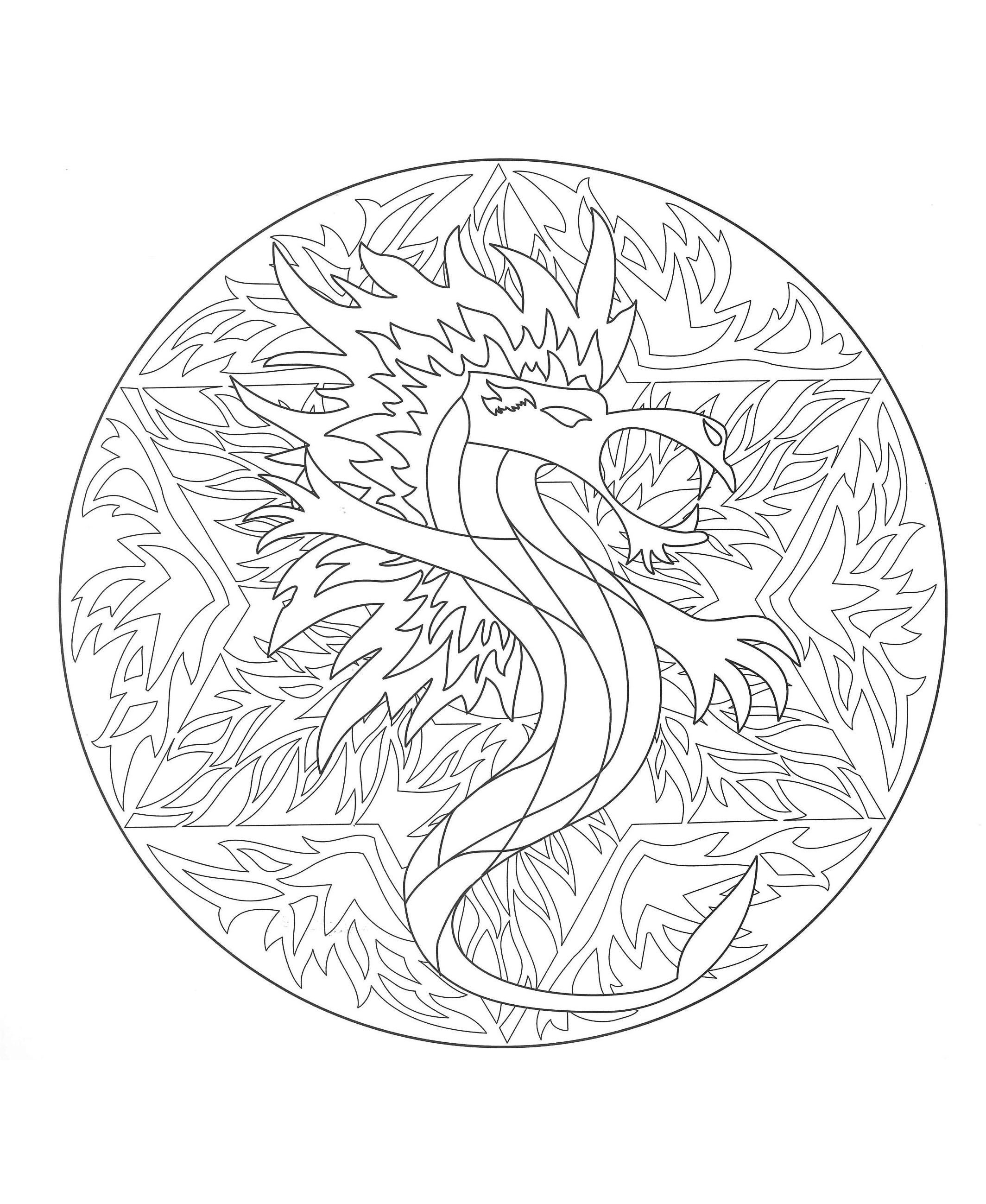 image=difficult coloriage gratuit mandala dragon 5 1