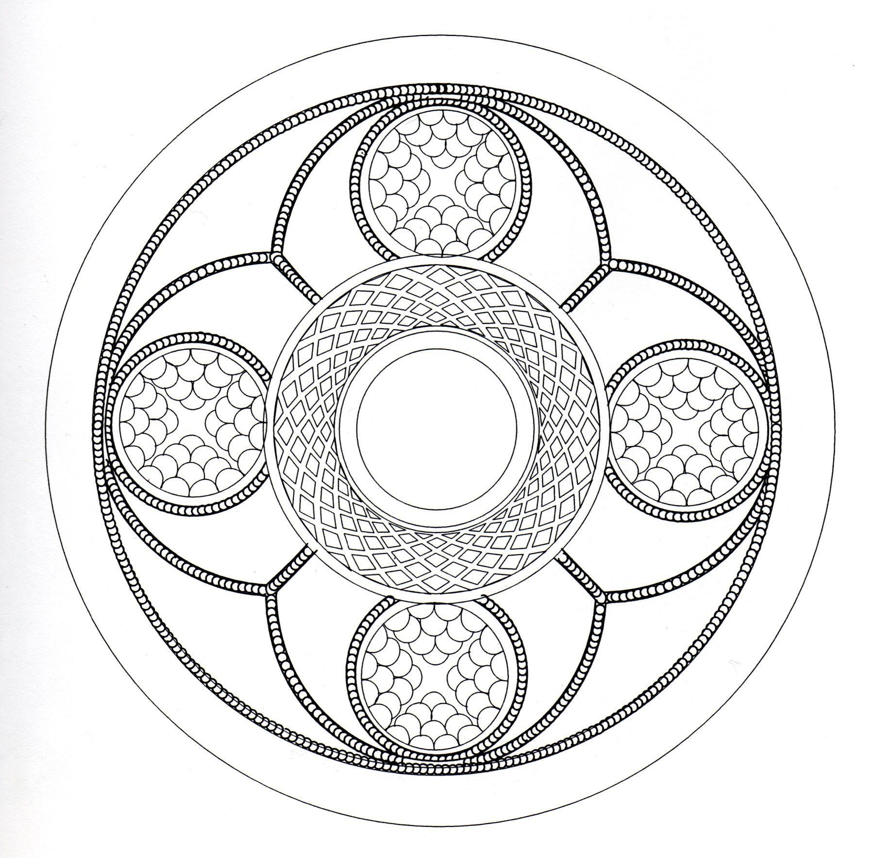 Coloriage Anti Stress Celtique.Mandala Celtique Complique Mandalas Difficiles Pour