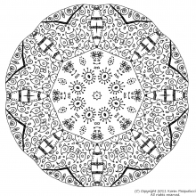 mandala a colorier adulte difficile 16 free to print