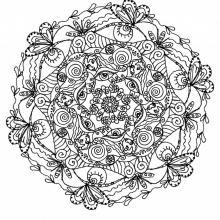 mandala a colorier adulte difficile 24 free to print