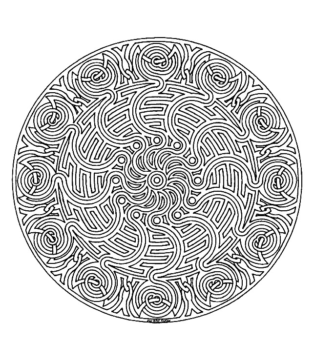 Coloriage Mandala Complique.Mandala A Colorier Difficile 1 Mandalas Difficiles Pour Adultes