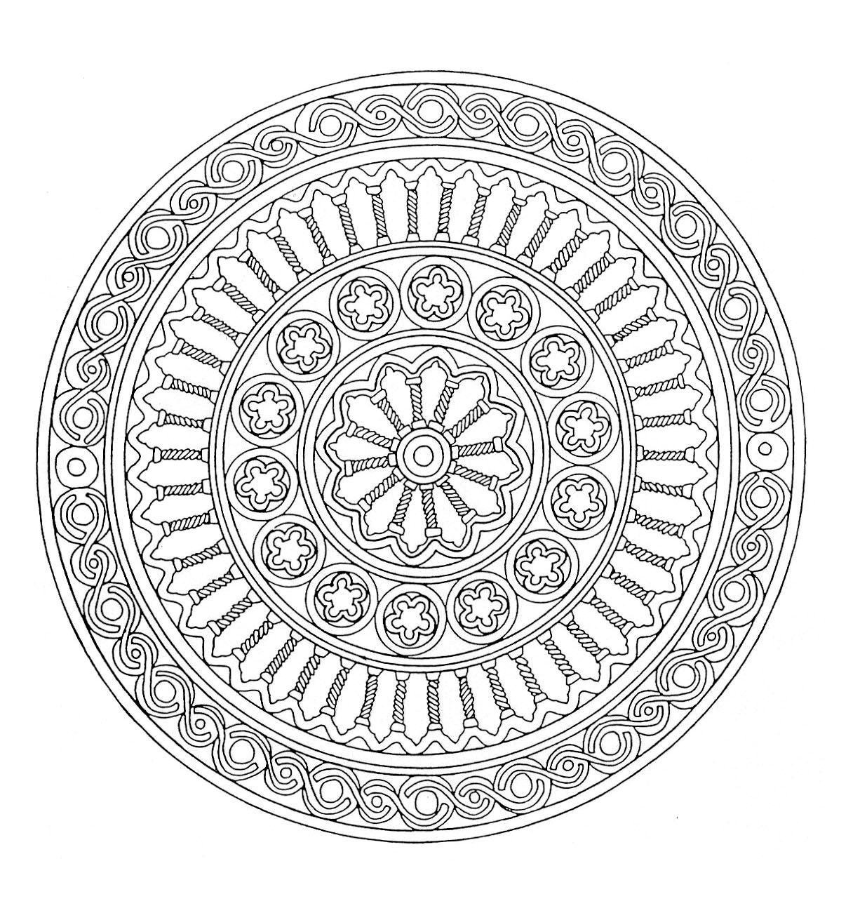 10 Coloriage De Mandala Complique | Imprimer et Obtenir une Coloriage Gratuit Ici