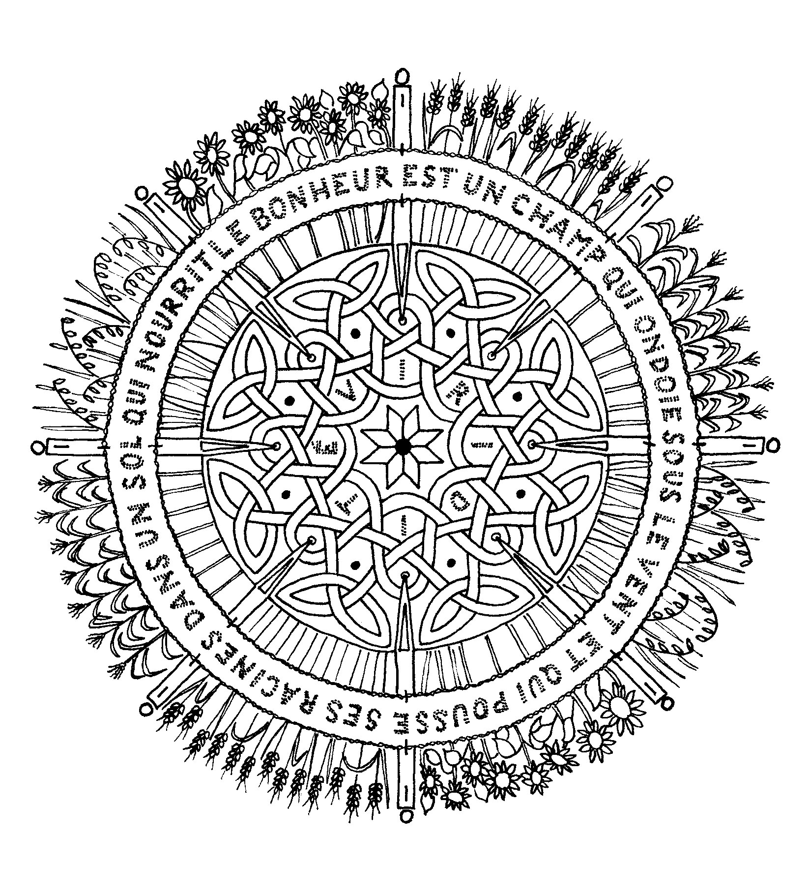 Coloriage Adulte Citation.Mandala A Colorier Difficile 14 Mandalas Difficiles Pour Adultes