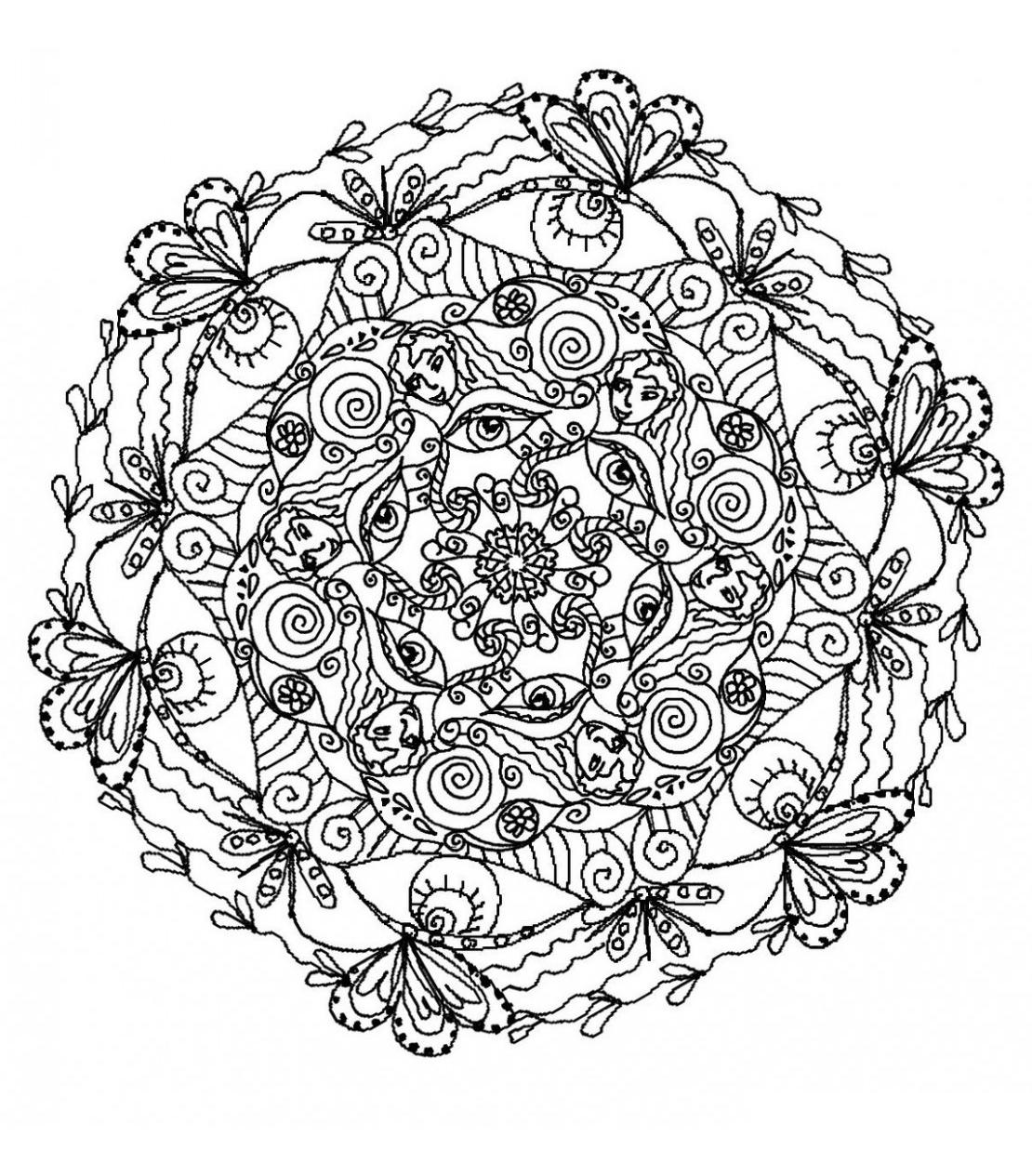 Mandala A Colorier Difficile 24 Mandalas Difficiles Pour Adultes