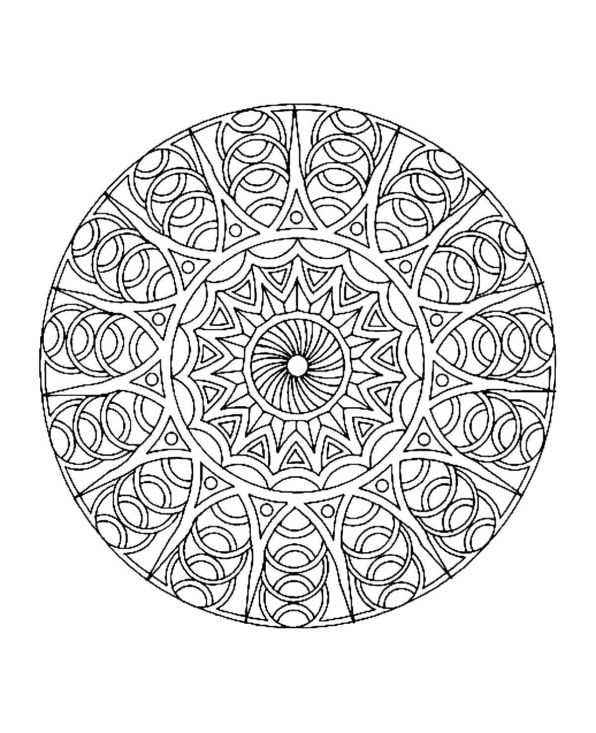 Mandala A Colorier Difficile 4 Mandalas Difficiles Pour Adultes