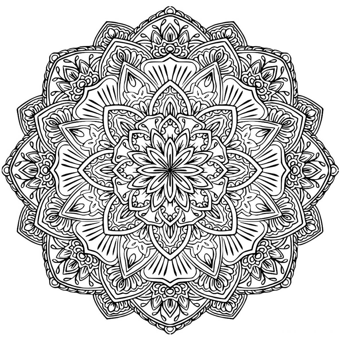 Coloriage Mandala Complique.Mandala A Colorier Gratuit Fleurs Difficile Mandalas Difficiles