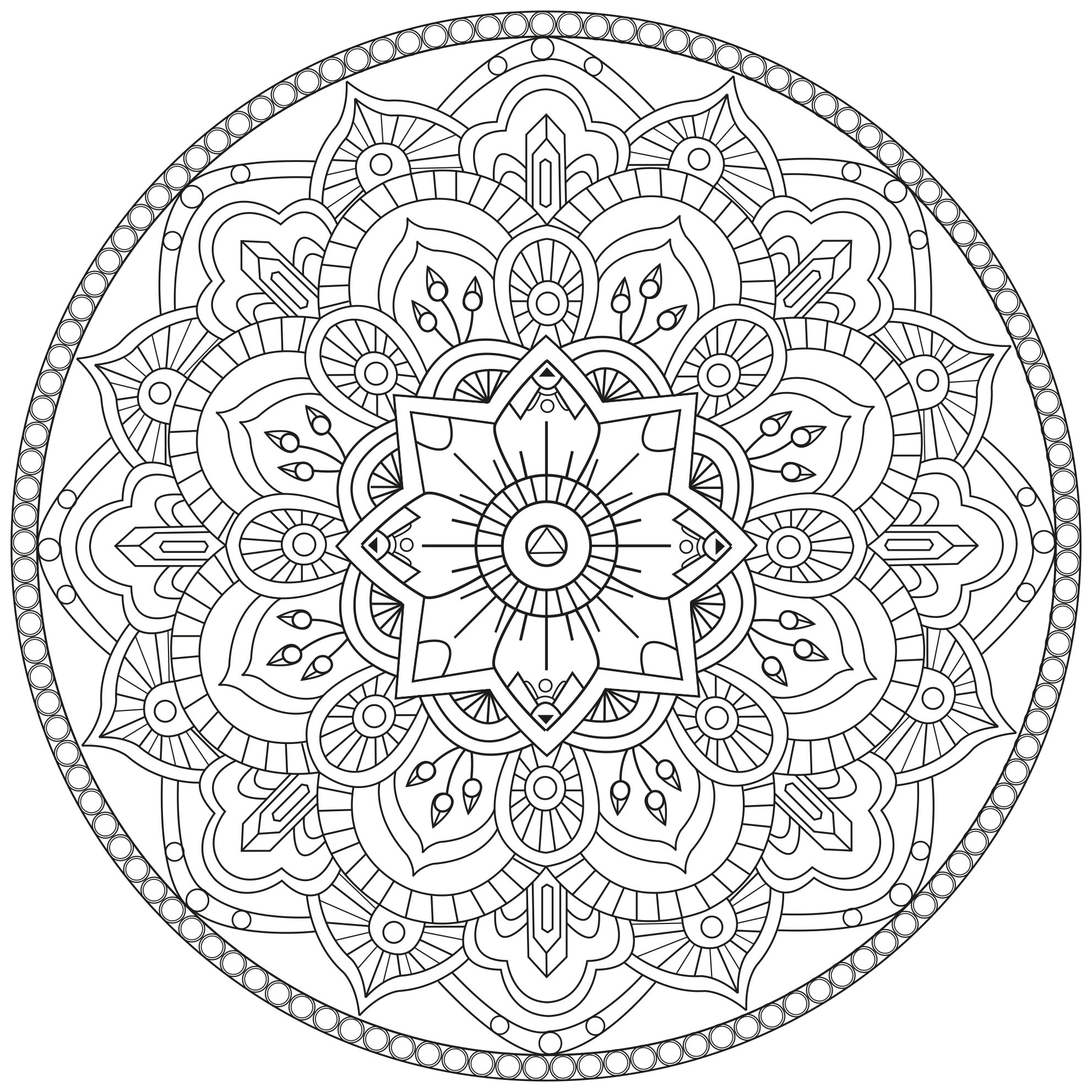 mandala a colorier gratuit fleurs traits reguliers mandalas difficiles pour adultes 100. Black Bedroom Furniture Sets. Home Design Ideas