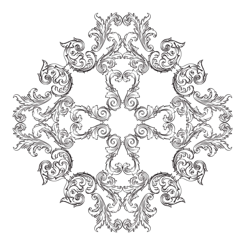Mandala Style Vintage Complexe Mandalas Difficiles Pour Adultes