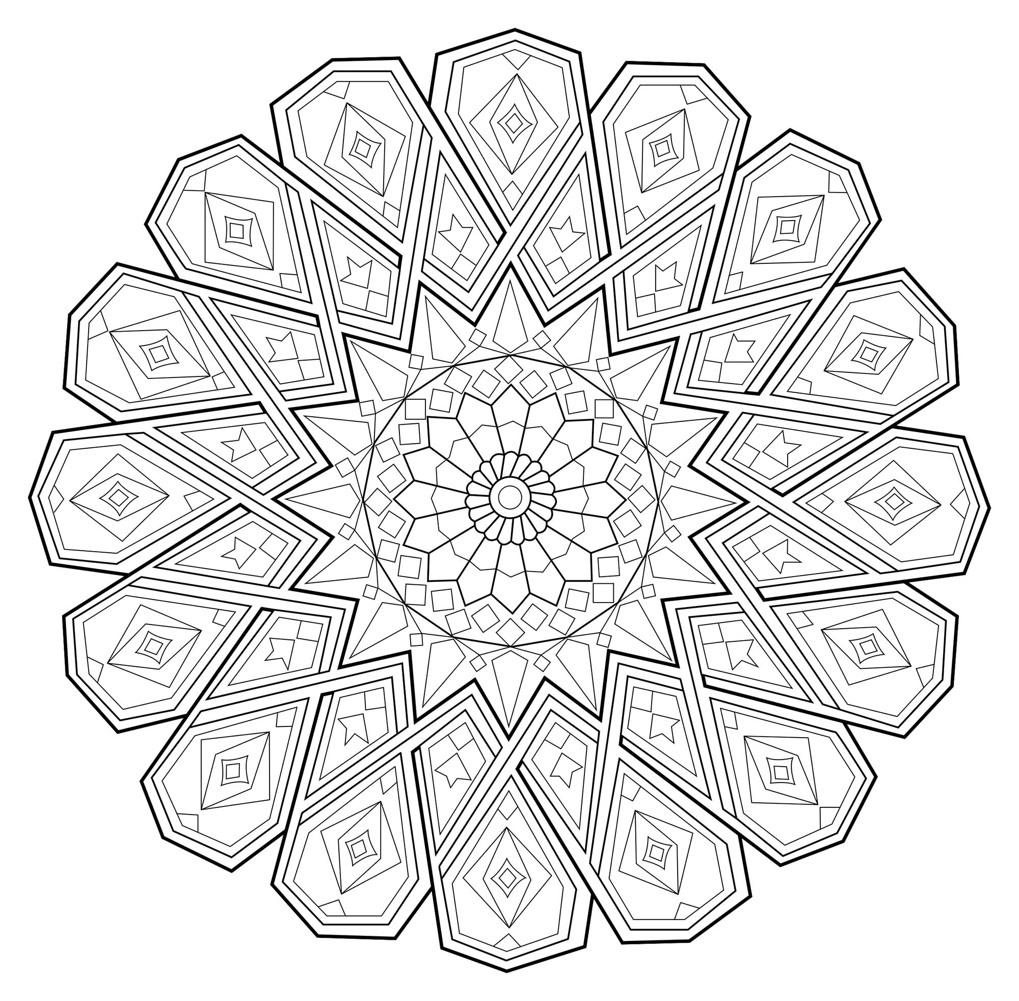 Unique Dessin A Colorier De Mandala Difficile