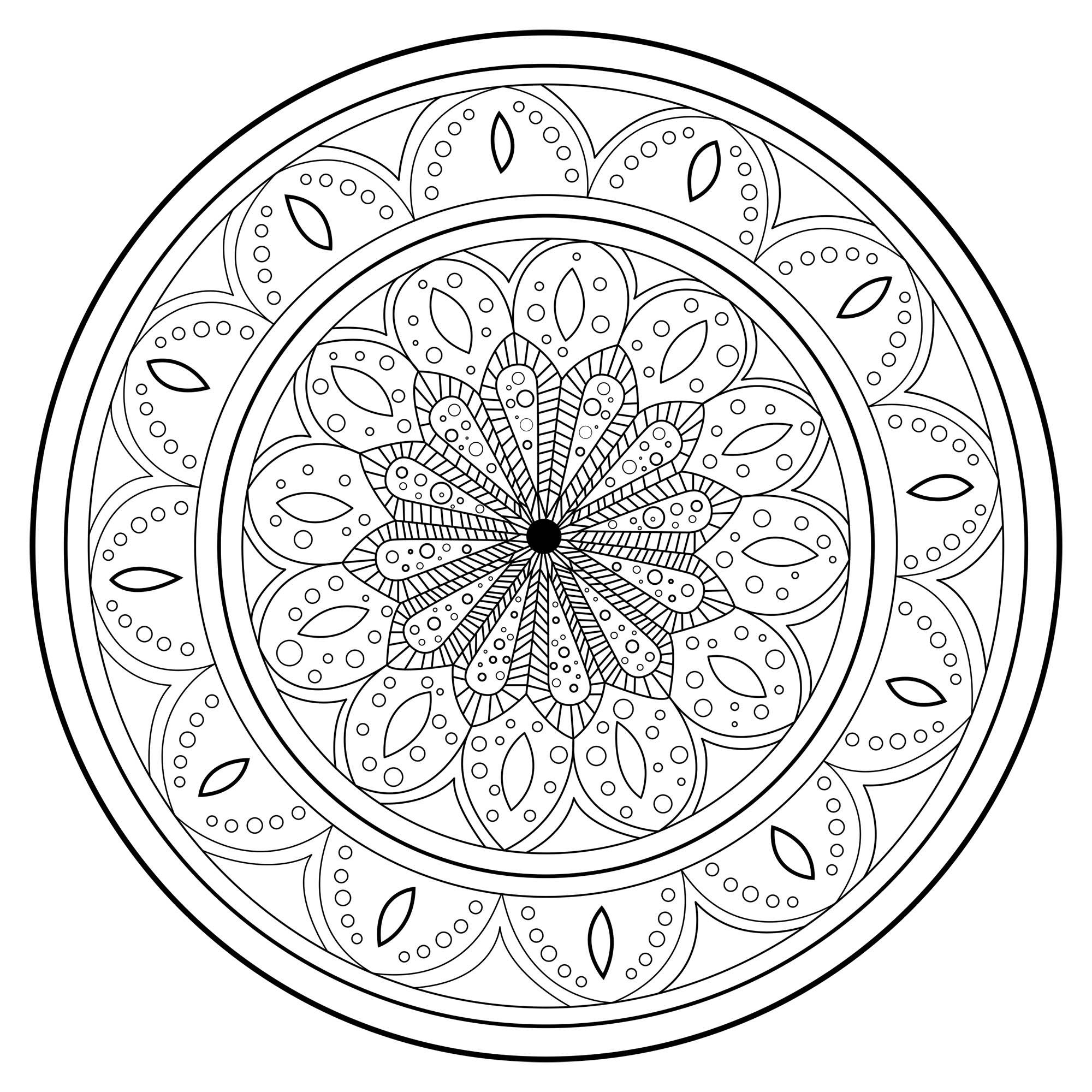 Mandala Magique Et Complexe Mandalas Difficiles Pour