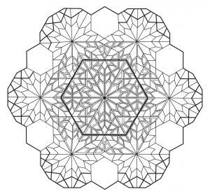 Mandala hexagone