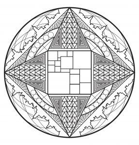 Mandala complexe et ville