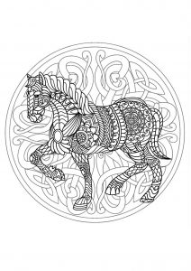 Mandala cheval 3 (compliqué)