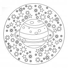 mandala a colorier facile enfant 5 free to print