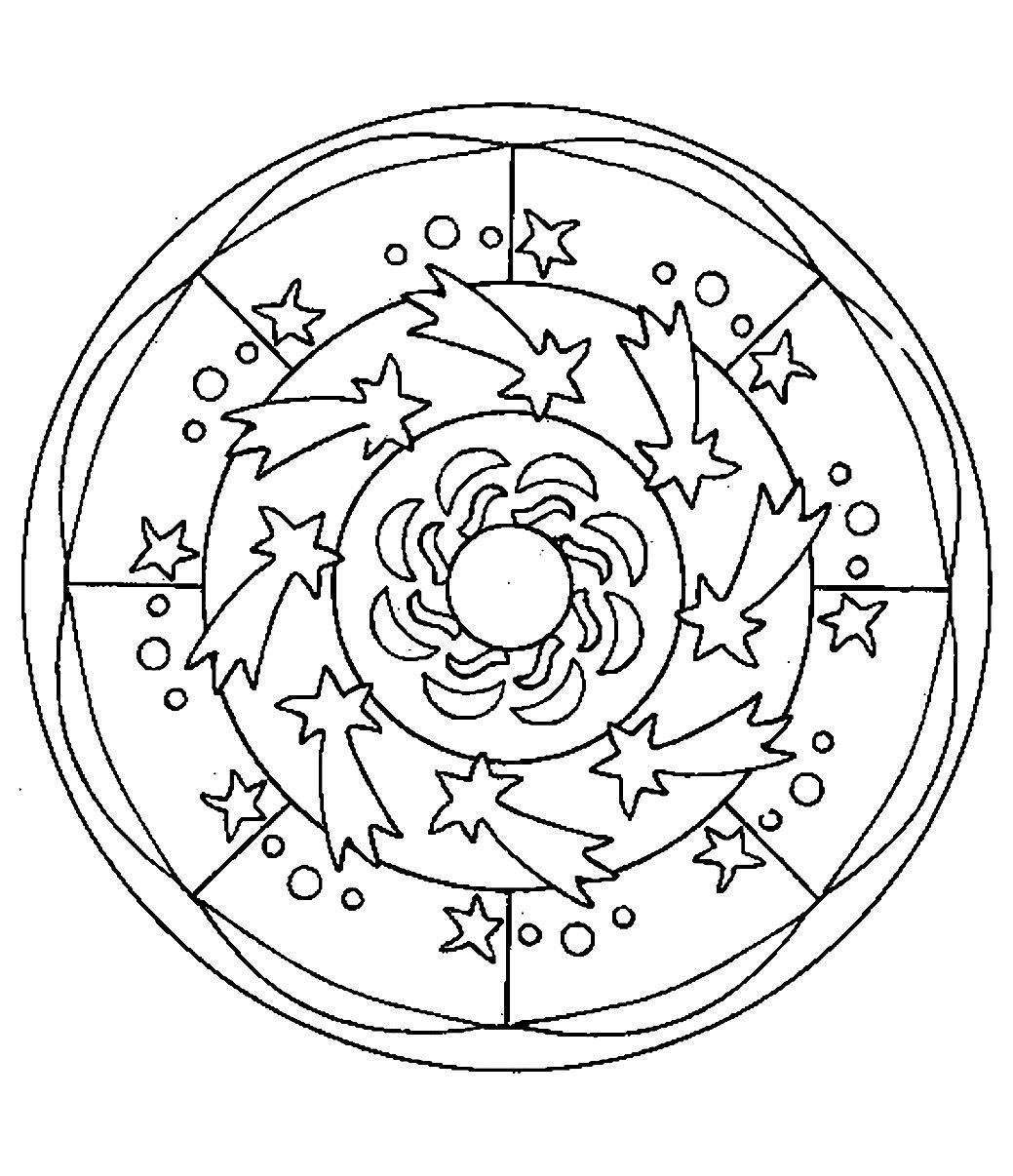 Mandalas faciles pour enfants 100 mandalas zen anti - Coloriage mandala enfants ...
