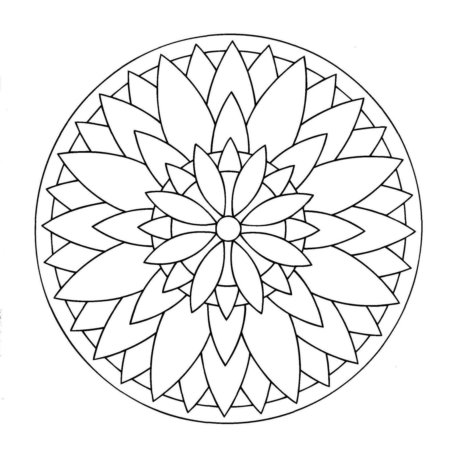 Mandala étoile Mandalas Faciles Pour Enfants 100