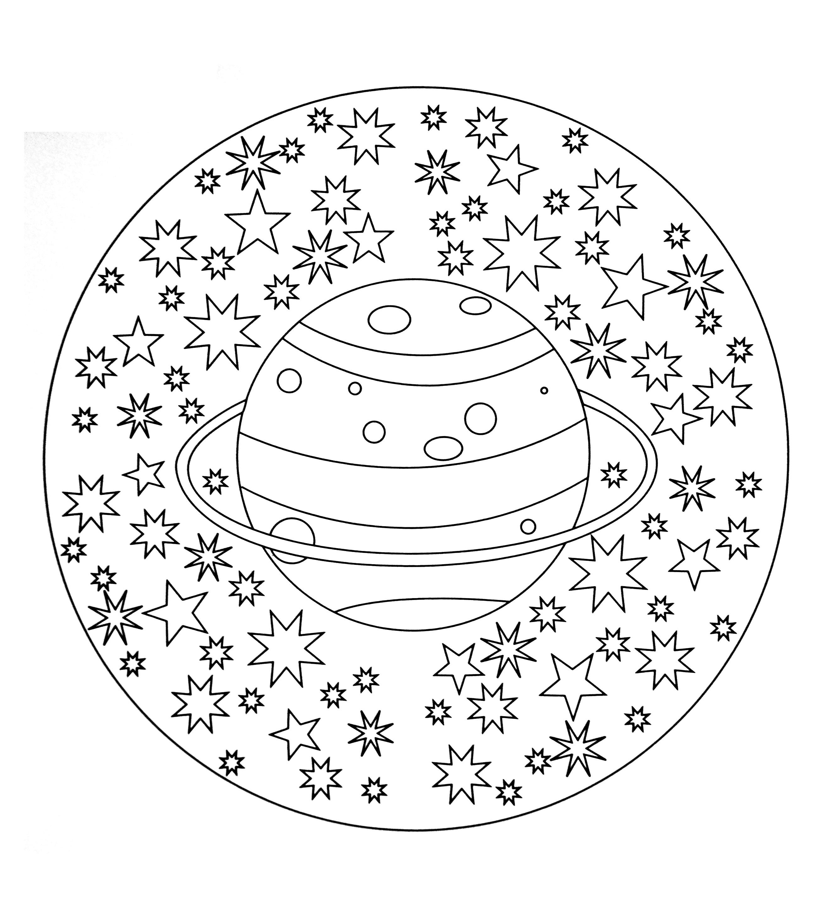 Mandala a colorier facile enfant 5 mandalas faciles - Coloriage mandala enfants ...