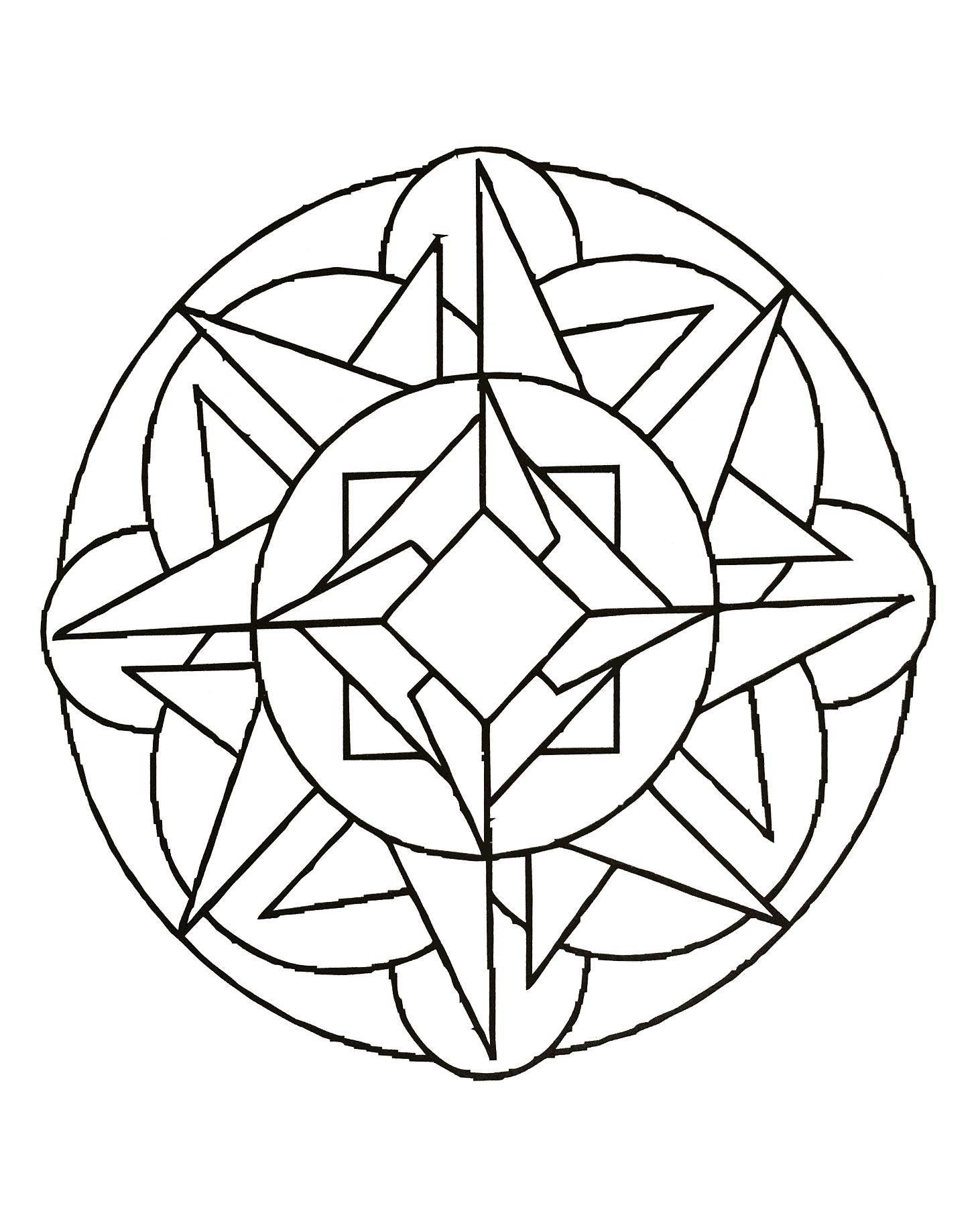 Mandala Formes Larges Mandalas Faciles Pour Enfants