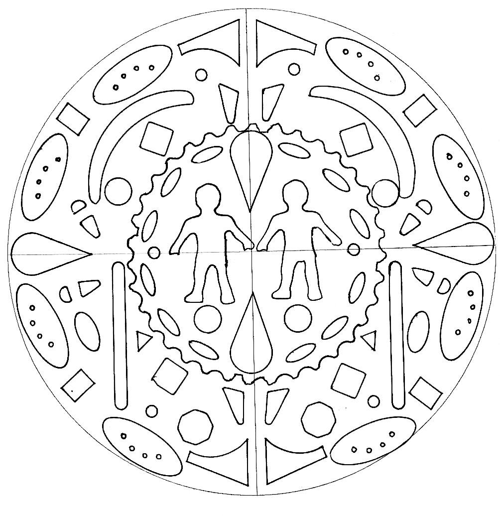 Mandala Homme Femme Mandalas Faciles Pour Enfants 100