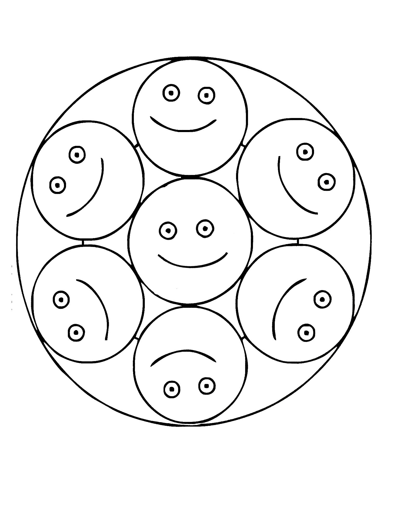 Mandala Smileys Mandalas Faciles Pour Enfants 100 Mandalas Zen Anti Stress