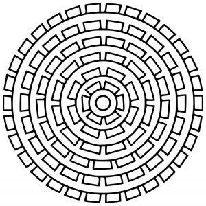 Mandala angulaire