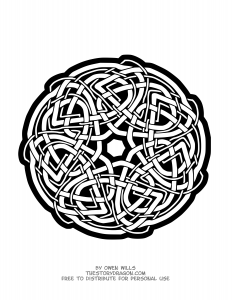 Mandala Hippocampe Facile Mandalas Faciles Pour Enfants