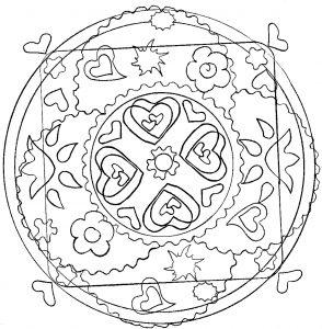 Mandala coeurs