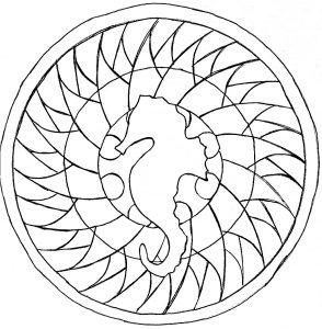Mandala hippocampe facile