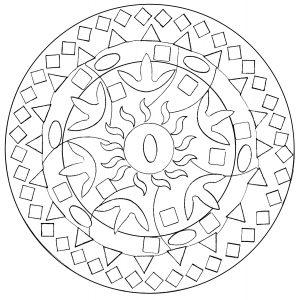 Mandala formes diverses abstraites