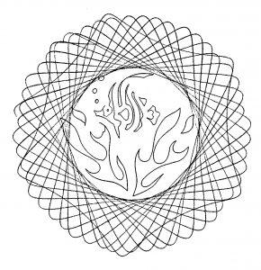 Mandala facile et abstrait