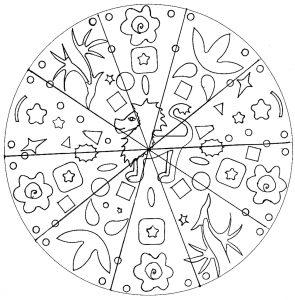 Mandala simple Lion