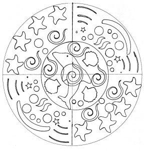 Simple Mandala Dauphin