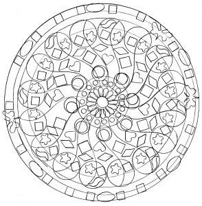 Mandala abstrait et facile