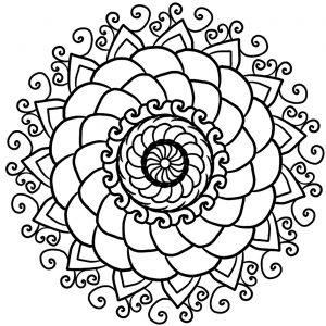 Mandala sympa et simple