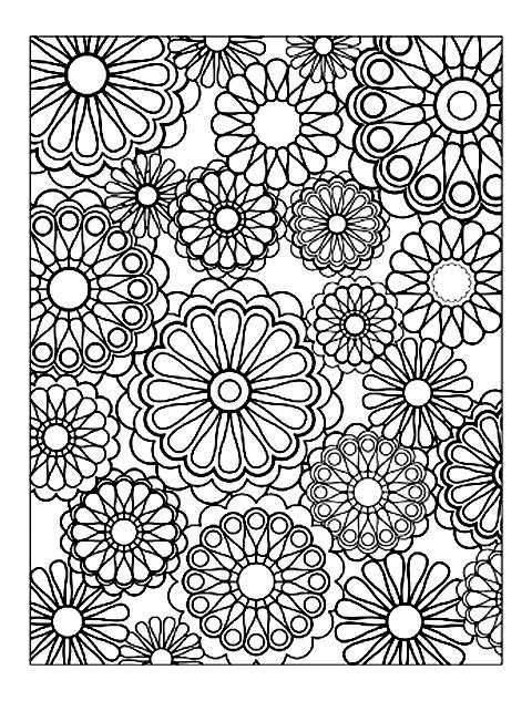 Fleurs Et Vegetation 6 Coloriages De Fleurs Et Motifs