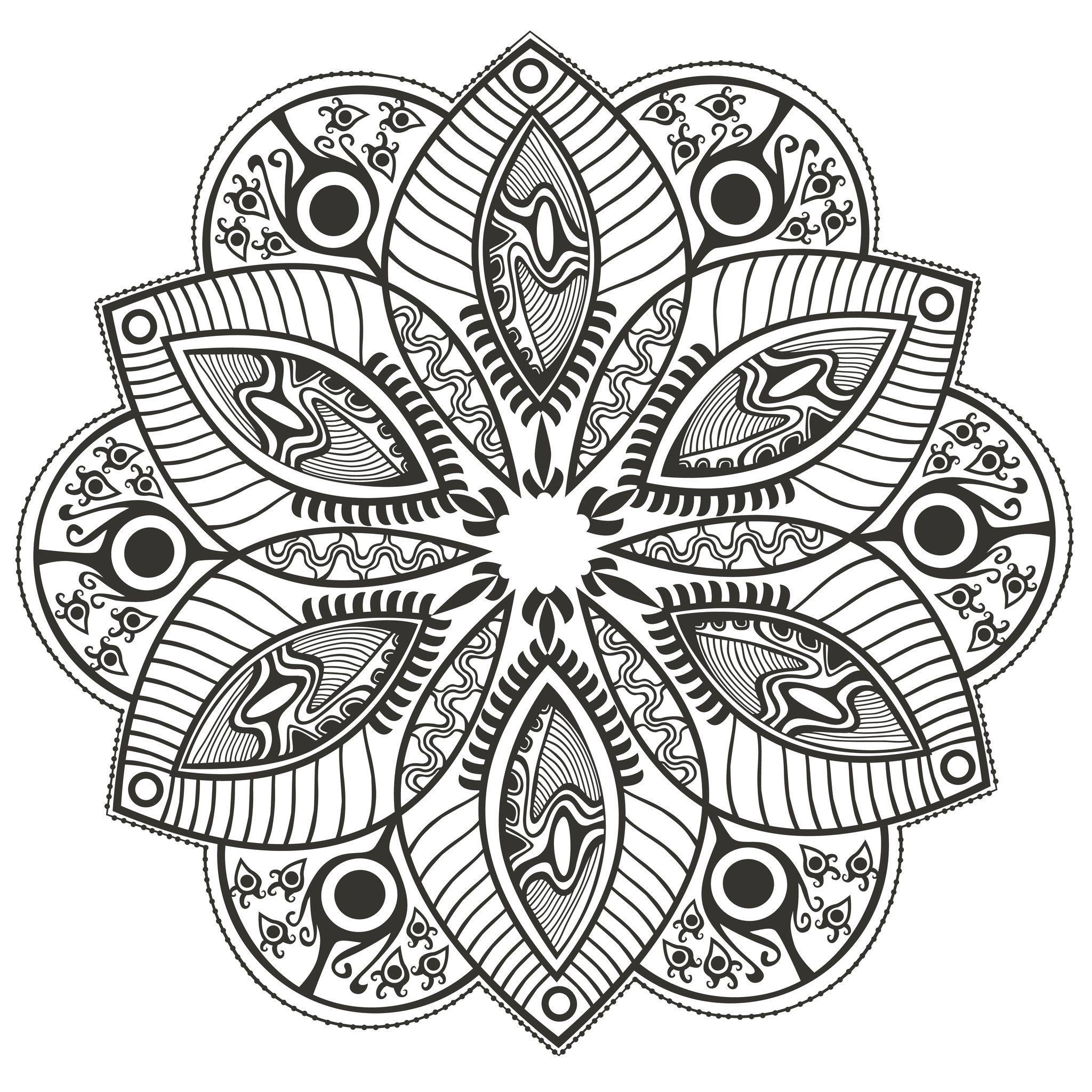 Mandala fleuri mandalas sur le th me des fleurs et - Mandala lapin ...