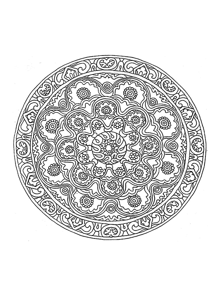 Beau Mandala Vegetal Tres Detaille Mandalas Sur Le Theme Des